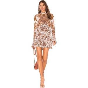 Free People Lady Luck Printed Bell Sleeve Tunic